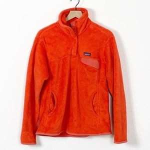 PATAGONIA Orange Re-Tool Snap T Pullover Fleece